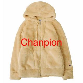 Champion - CHAMPION チャンピオン レディース ボア フリースパーカー ベージュ L