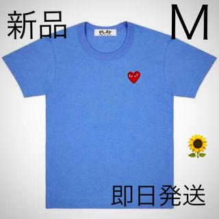 コムデギャルソン(COMME des GARCONS)の即日発送!ブルー Mサイズ プレイコムデギャルソン メンズ Tシャツ (Tシャツ/カットソー(半袖/袖なし))