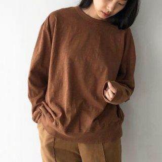 TODAYFUL - TODAYFUL Slub Cotton Long T-Shirts