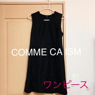 COMME CA ISM - ♡ワンピース ブラック Vネック コムサイズム♡