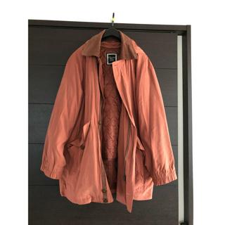 クリスチャンディオール(Christian Dior)のChristianDior スプリングコート オレンジ系(ステンカラーコート)