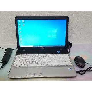 富士通 - 富士通 ノートパソコン Windows10 エクセル、ワード、DVDマルチ