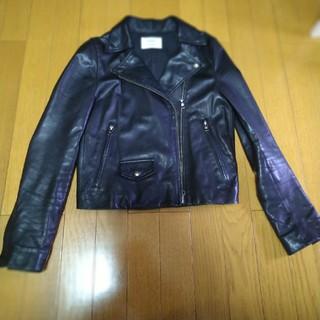 ステュディオス(STUDIOUS)の【定番】STUDIOUS ライダースジャケット ブラック黒 0(ライダースジャケット)