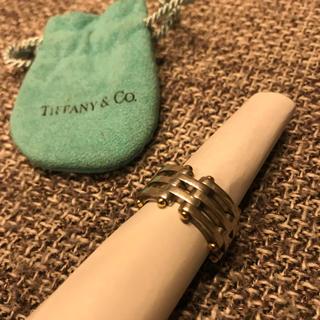 ティファニー(Tiffany & Co.)のTIFFANY&Co.  3連 コンビ チェーン リング(リング(指輪))