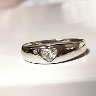 ポンテヴェキオ ハートシェイプ ダイヤモンド プラチナ リング