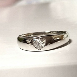 ポンテヴェキオ(PonteVecchio)のポンテヴェキオ ハートシェイプ ダイヤモンド プラチナ リング    (リング(指輪))