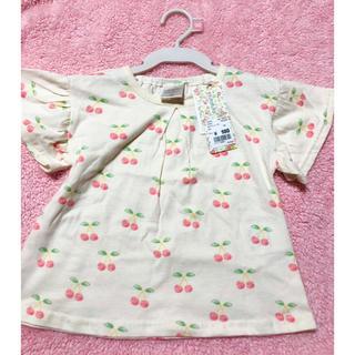 新品 futafuta 女の子 半袖 さくらんぼ Tシャツ トップス 90cm