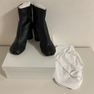 マルタンマルジェラ(Maison Martin Margiela)のタビ 新品未使用 メゾン マルジェラ Tabi 足袋 ヒールブーツ ブラック(ブーツ)