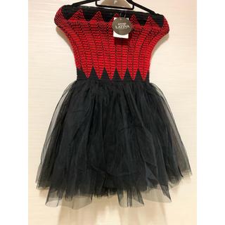 アナップラティーナ(ANAP Latina)のANAP LATINA。ニット×チュール コンビ ドレス。タグ付き!(ミニドレス)