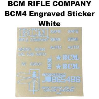 BCM RIFLE COMPANY BCM4 刻印 メタルステッカー 1187r(カスタムパーツ)
