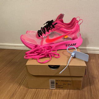 NIKE - nike off white zoom fly pink ズームフライ 27cm