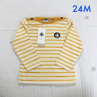 プチバトー(PETIT BATEAU)の新品未使用  プチバトー  ライトコットン  長袖  Tシャツ  24m(Tシャツ)
