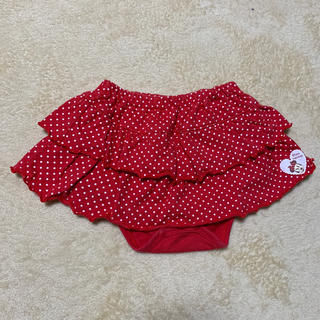 ディズニー(Disney)のフリルスカート  60〜70  ミニーちゃん 赤 ドット(スカート)