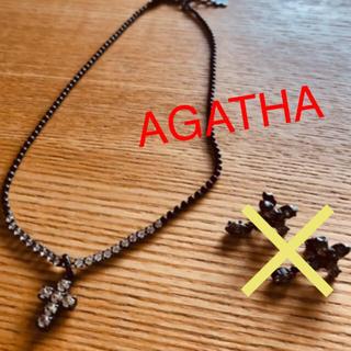 アガタ(AGATHA)のAGATHA クロスチャーム付きネックレス (ネックレス)