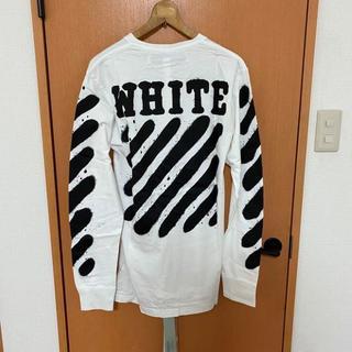 OFF-WHITE - M 新品 海外限定レア★Off-White★スプレーペイント ロゴ 長袖Tシャツ