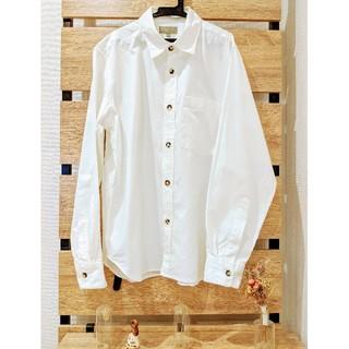 マーガレットハウエル(MARGARET HOWELL)のマーガレットハウエル 白シャツ(コットン100%)(シャツ)