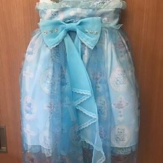 アンジェリックプリティー(Angelic Pretty)のAngelic Pretty Milly Cross スカート サックス(ひざ丈スカート)