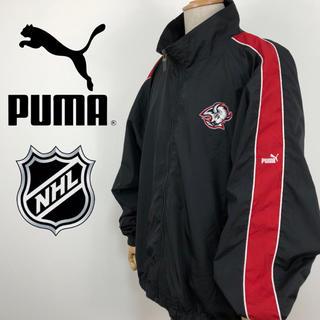 プーマ(PUMA)のプーマ PUMA NHL 刺繍 サイドライン バイカラー ナイロンジャケット(ナイロンジャケット)