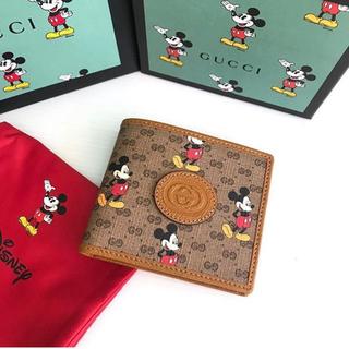 Gucci - 新品 グッチ 財布 ミッキー 折りたたみ ディズニー