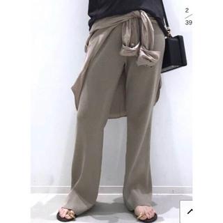 L'Appartement DEUXIEME CLASSE - Rib Knit パンツ ベージュ 36 ニットパンツ リブニット