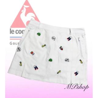 le coq sportif - 美品♡ルコックゴルフ  韓国  総刺繍 インナーパンツ一体型  ゴルフスカート