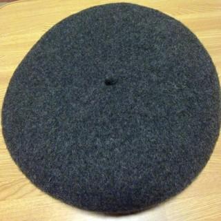 MUJI (無印良品) - 無印良品 ベレー帽 チャコールグレー