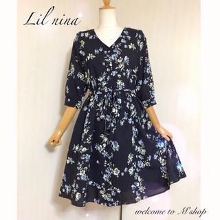 lilLilly - リルニーナ ✽ 2way花柄ワンピース ✽ フラワー ガウン ✽
