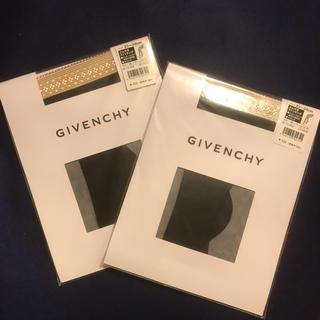 ジバンシィ(GIVENCHY)のGIVENCHY パンティストッキング ゴム付きストッキング 黒 2枚セット(タイツ/ストッキング)
