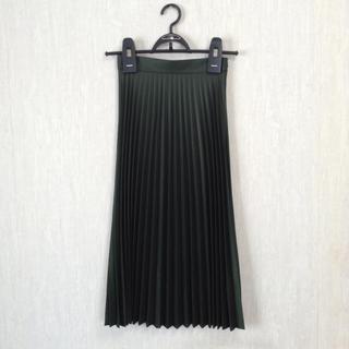 ユナイテッドアローズ(UNITED ARROWS)の美品*ZARA プリーツスカート グリーン XS*ザラ 深緑 (ロングスカート)