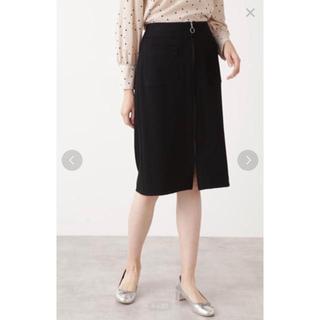 ナチュラルビューティーベーシック(NATURAL BEAUTY BASIC)のNATURAL BEAUTY BASIC ZIPディティールタイトスカート(ひざ丈スカート)