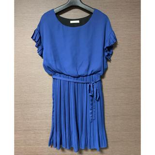 エージーバイアクアガール(AG by aquagirl)のパーティードレス ブルー(ミディアムドレス)