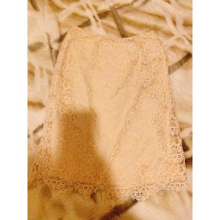 ナチュラルビューティーベーシック(NATURAL BEAUTY BASIC)のベージュレーススカート(ひざ丈スカート)
