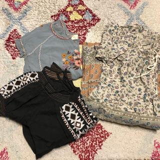 w closet - 刺繍ブラウス+エスニックワンピース セット まとめ売り