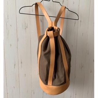 L'Appartement DEUXIEME CLASSE - 可愛い☆シンプル巾着バックパック☆ キャンバスバッグ ショルダーバッグ