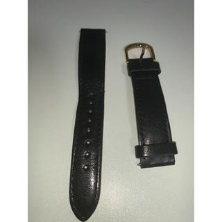 ノット(KNOT)のKnot 栃木レザーベルト幅18mm ブラック&ローズゴールドバックル(レザーベルト)