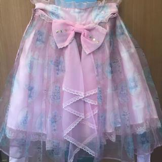 アンジェリックプリティー(Angelic Pretty)のAngelic Pretty Milky Cross スカート ピンク(ひざ丈スカート)