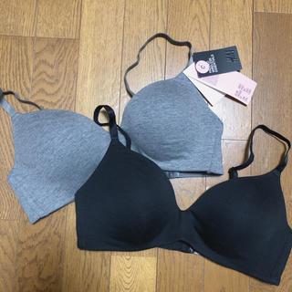 エイチアンドエム(H&M)のH&M ブラジャー 新品 ブラック&グレーC80(ブラ)