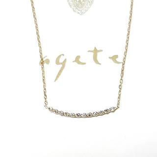 agete - agete アガット ダイヤモンドラインネックレス