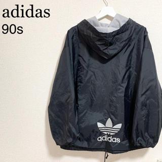 adidas - 90s adidas デサント製 ナイロンジャケット メンズM-L 黒