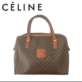 celine - CELINE セリーヌ ミニボストン ハンドバッグ マカダム レトロ ブラウン