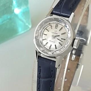 OMEGA - ⭐OH済 綺麗 オメガ レディースウォッチ 時計 型押しレザー 卒業式 入学式に