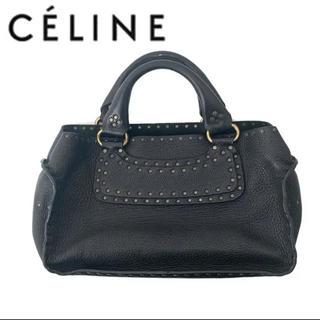 celine - celine セリーヌ スタッズ ブギーバッグ ハンドバッグ レザー ブラック