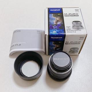 オリンパス(OLYMPUS)の【美品】OLYMPUS M.ZUIKO DIGITAL 45mm F1.8(レンズ(単焦点))