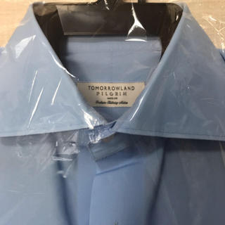 トゥモローランド(TOMORROWLAND)のトゥモローランド ワイシャツ 長袖 水色 ブルー 39(シャツ)