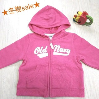 オールドネイビー(Old Navy)の★冬物sale★OLD NABY ベビー 女の子 パーカー ピンク 6-12M(ジャケット/コート)