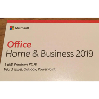 Microsoft - 新品正規品 Office Home & Business 2019