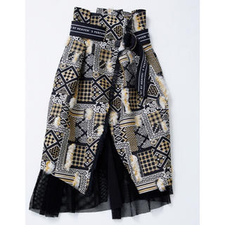 ステュディオス(STUDIOUS)の新品タグ付き UNITED TOKYO ミックスジャカードスカート(ひざ丈スカート)