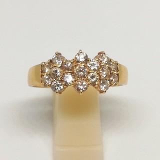 豪華 K18 1.07ct ダイヤモンド リング 20号(リング(指輪))