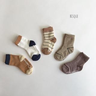 新品 デザインソックス5足セット 靴下 男の子 女の子 キッズ セット 白