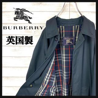 BURBERRY - 【レア】バーバリー☆トレンチコート 大人気ブラックカラー 裏地バーバリーチェック